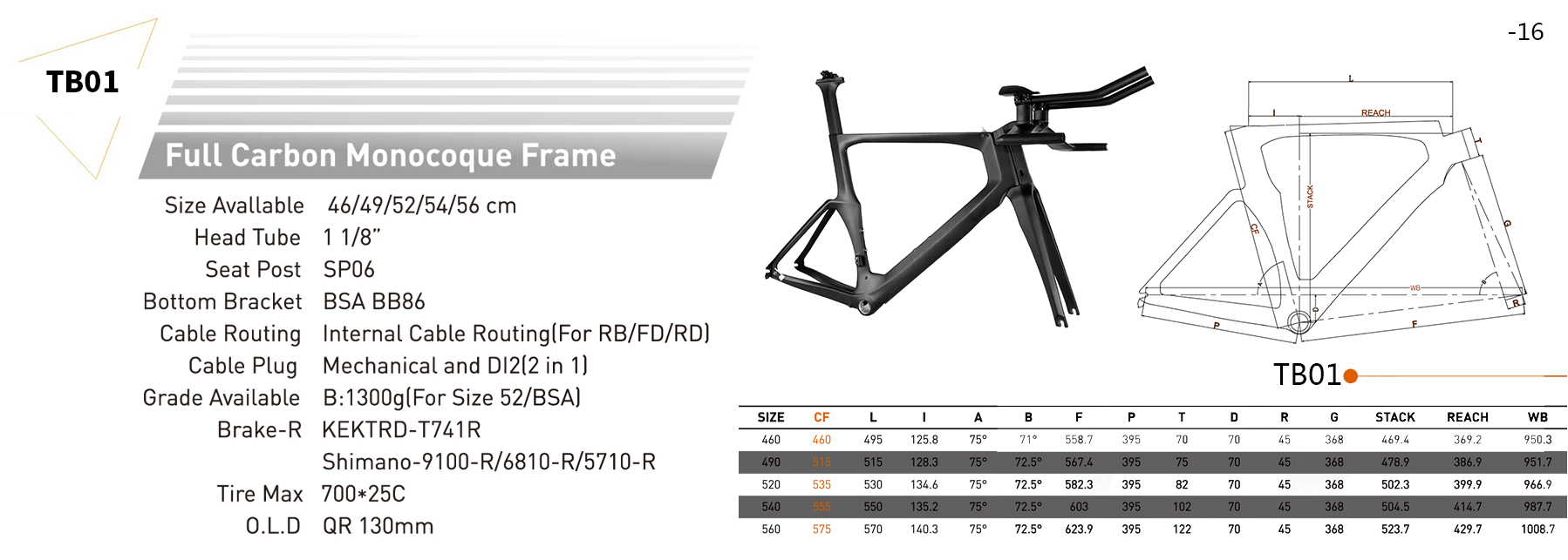 carbon time trial frame